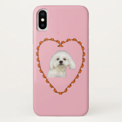 Case-Mate Barely There iPhone X Case with Maltese Phone Cases design