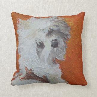 Maltese Puppy Throw Pillow