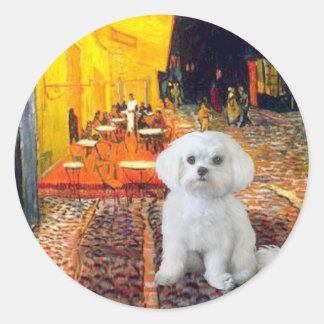 Maltese (R) - Terrace Cafe Classic Round Sticker