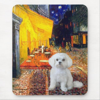 Maltese (R) - Terrace Cafe Mouse Pad