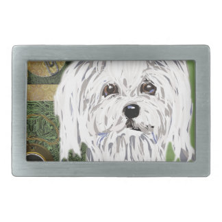 Maltese Rectangular Belt Buckle