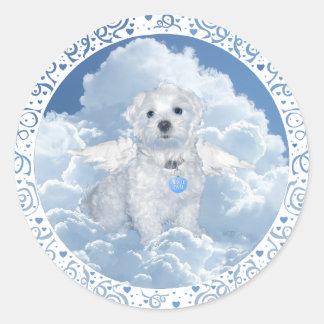 Maltese Rescue Angel Classic Round Sticker