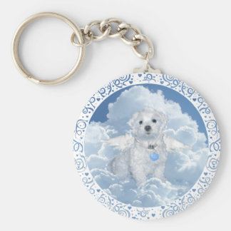 Maltese Rescue Angel Keychain