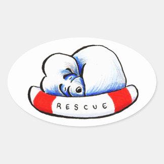 Maltese Rescue Oval Stickers
