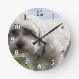 Maltese Round Clock