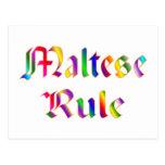Maltese Rule Postcard