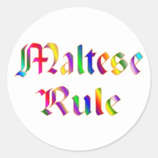Maltese Rule Sticker