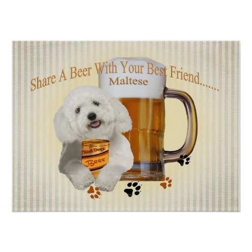 Maltese Share A Beer cards Poster