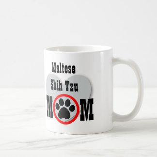 Maltese Shih Tzu Mom Dog Lover Gift HY5 Classic White Coffee Mug