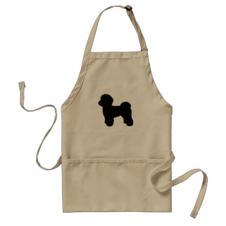 Maltese Silhouette Adult Apron