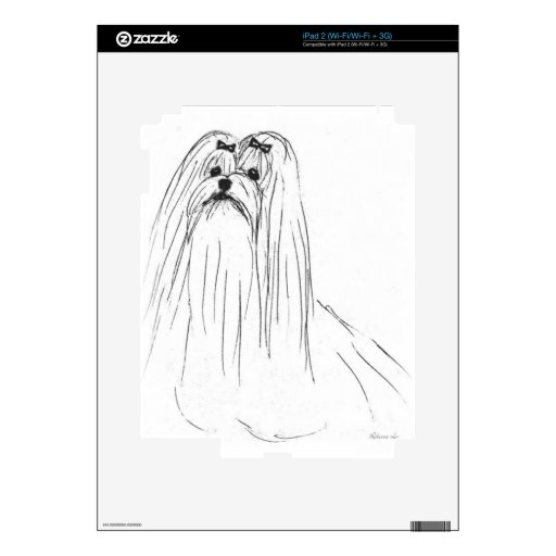 Maltese Decal For iPad 2