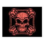 Maltese Skull & Crossbones -red Postcard