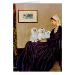 Maltese (three) - Whistlers Mother Greeting Card