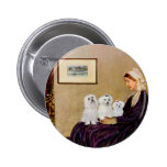 Maltese (three) - Whistlers Mother Pin