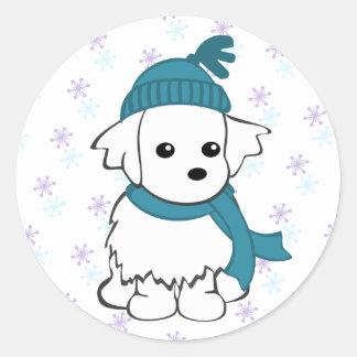 Maltese Winter Sticker