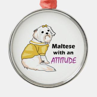 MALTESE WITH ATTITUDE ORNAMENTS