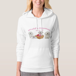 Maltese Worlds Greatest Mom Apparel Hoodie