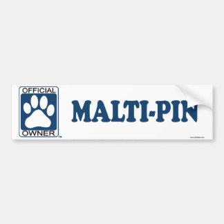 Malti-Pin Blue Bumper Sticker
