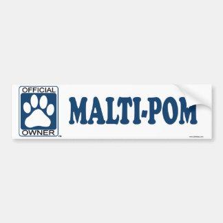 Malti-Pom Blue Bumper Sticker