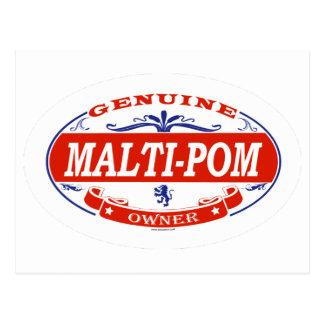 Malti-Pom  Postcard