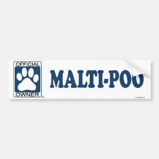 Malti-Poo Blue Bumper Sticker