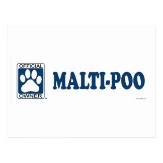 Malti-Poo Blue Postcard