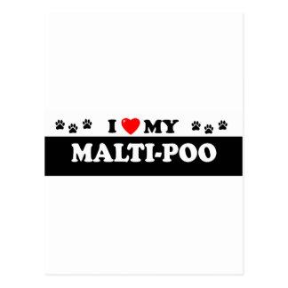 MALTI-POO POSTCARD
