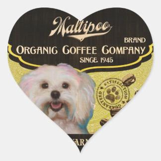 Maltipoo Brand – Organic Coffee Company Heart Sticker