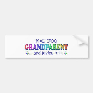 MALTIPOO CAR BUMPER STICKER