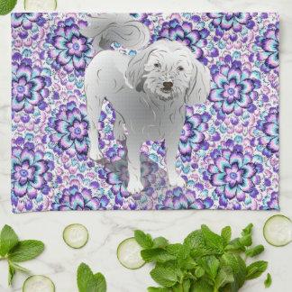 Maltipoo Cute Little White Dog Towel