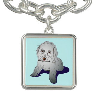 Maltipoo Cute Puppy Charm Bracelet