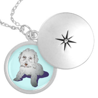Maltipoo Cute Puppy Silver Plated Necklace