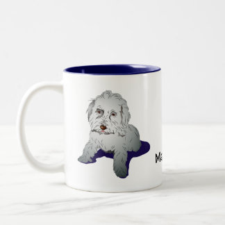 Maltipoo Cute Puppy Two-Tone Coffee Mug