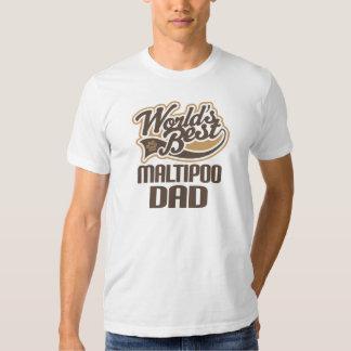 Maltipoo Dad (Worlds Best) T Shirt