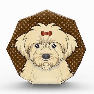Maltipoo Dog Cartoon Paws Award