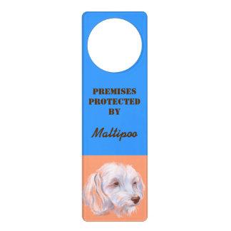 Maltipoo Dog Pastel Art Door Hanger