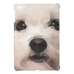 Case Savvy iPad Mini Glossy Finish Case with Maltese Phone Cases design