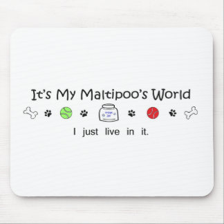 Maltipoo Mouse Pads