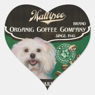 Maltipoo – Organic Coffee Company Heart Sticker