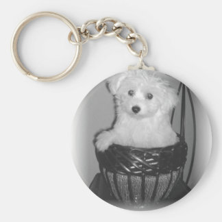 MaltiPoo Products Basic Round Button Keychain