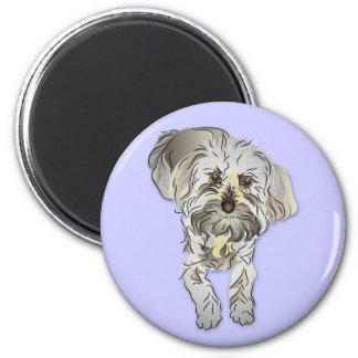 Maltipoo Puppy 2 Inch Round Magnet