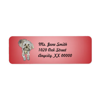 Maltipoo Puppy on Pink Return Address Label