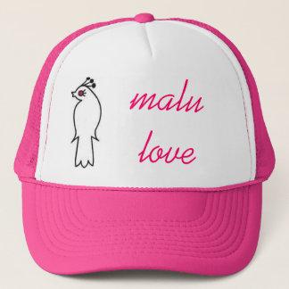 malu love trucker hat