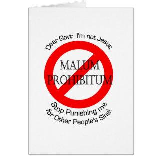 Malum Prohibitum Tarjeta De Felicitación