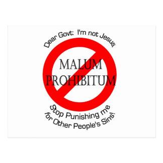 Malum Prohibitum Tarjeta Postal