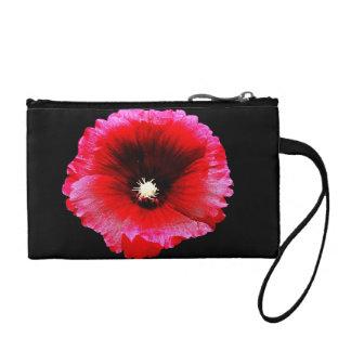 Malva color de rosa en el bolso negro de Bagettes