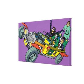 Malvados de Batman en Jokermobile Impresiones En Lona