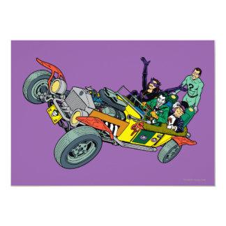 """Malvados de Batman en Jokermobile Invitación 5"""" X 7"""""""