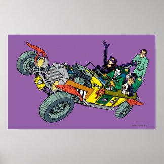 Malvados de Batman en Jokermobile Posters