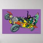 Malvados de Batman en Jokermobile Póster